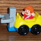 McDonald's Fisher-Price Little People Yellow Blue Forklift Red Shirt U3 Happy Meal Toy Loose Used