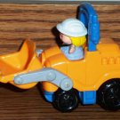 Fisher-Price McDonald's Little People Orange and Blue Front Loader Truck U3 Toy Mattel Loose Used