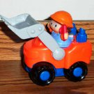 Fisher-Price Little People 2002 #B0135 Front Loader Truck w/ Driver Loose Used