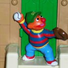 Sesame Street Applause Ernie Playing Baseball PVC Figure Loose Used