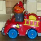 Sesame Street Playskool Ernie in Fire Engine Diecast Truck 1981 Loose Used