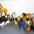Plastic Toy Wildlife Animals Lot of 24 Various Sizes Loose Used