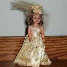 """Vintage Plastic 6"""" Bride Doll Loose Used"""