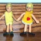 Vintage Boy and Girl Bendy Figures Loose Used