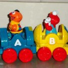 Fisher-Price Sesame Street Teach & Go Train Cars 1 & 2 only Loose Used