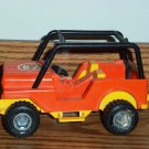 Fisher-Price Orange Jeep from #312 Adventure People North Woods Trailblazer 1977 Playset Loose Used
