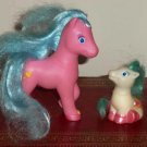 Tara Toys Pink Mother and Whites Baby Ponies Loose Used