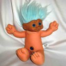 Blue Haired Treasure Trolls Dolls 1991 Ace Novelty Loose Used A