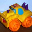 Playskool Wheel Pals Yellow Bulldozer With Orange Wheels Digger Truck Loose Used
