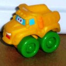 Playskool Tonka Wheel Pals Mini Yellow with Green Wheels Dump Truck Loose Used