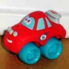 Playskool Wheel Pals Mini Red #5 Race Car with Blue Wheels Loose Used