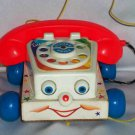 Fisher-Price #747 Chatter Telephone with Wooden Base Loose Used