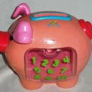 Fisher-Price #J2462 Learning Piggy Bank with No Coins Loose Used