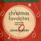 Vintage Big Note Christmas Favorites Simplified for Piano 1948 Fair
