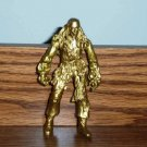 Pirates of the Caribbean At World's End Metallic Jack Sparrow Gold Action Figure Zizzle Loose Used