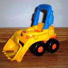 Fisher Price # 72648 Little People Bulldozer Loose Used Incomplete