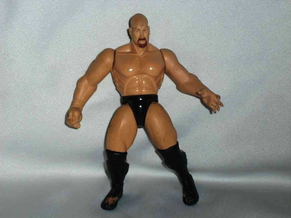 WWF Stone Cold Steve Austin Brown Beard Action Figure Jakks Pacific WWE Wrestling Loose Used