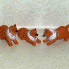 M.M.T.L. Collie Dog Famliy PVC Figures Toy 2000 Loose Used