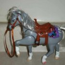 Fisher-Price #75280 Loving Family Western Pony Dusty Gray Plastic Toy Horse Loose Used
