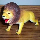 "9"" Yellowish Lion Plastic Toy Animal Loose Used"