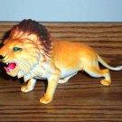 Large Orangish Lion Plastic Toy Animal Loose Used