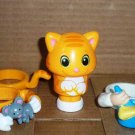 Pop on Pals Kooper or Ginger The Cat with Accessories Spin Master Magic Ladder Loose Used