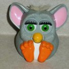 McDonald's Furbies Gray Furby with White Hair Squeaks 1999 Happy Meal Toy Loose Used B