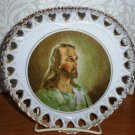 Vintage Jesus Collector Plate Gold Tone Edge G Novelty Co. Loose Used