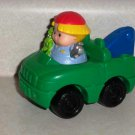 Fisher-Price Little People Green Tow Truck from Lil' Roadside Helper with Figure Loose Used