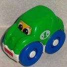 Fisher-Price Green Rattle Car #1 with Eyes Loose Used