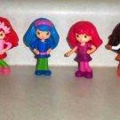 McDonald's 2010 Strawberry Shortcake Set of 6 Dolls Happy Meal Toys Loose Used