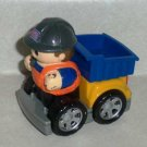 Mega Bloks Dump Truck and Construction Worker Loose Used