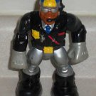 Fisher-Price Rescue Heroes Jake Justice Black and Silver Outfit  B9415 Loose Used