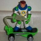 Fisher-Price #L1994 Planet Heroes Earth Ace Figure and Skateboard Only Loose Used