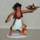 Disney Aladdin Collectible Figures Aladdin & Abu Mattel 1992 Loose Used