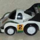 Toysmith #3012 Zoomsters Mini Racers White #2 Race Car Loose Used