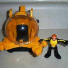 Fisher-Price Submarine and Diver Figure from #N0763 Imaginext Ocean Boat Loose Used
