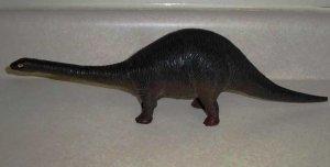 """Larami Apatosaurus 15"""" Plastic Toy Dinosaur Loose Used"""
