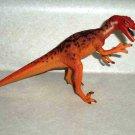 Carnegie Safari Ltd. Orange Velociraptor Dinosaur Figure Loose Used