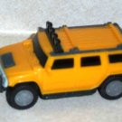 McDonald's 2006 Hummer H2 SUV Yellow Happy Meal Toy Loose Used