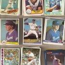 Lot of 35 Phil Niekro Baseball Cards Atlanta Braves Yankees Indians
