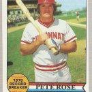 1979 Topps #204 Pete Rose Record Breaker Baseball Card EX