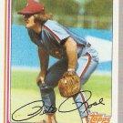 1982 Topps #780 Pete Rose Baseball Card NM