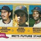1981 Topps Baseball Card #259 Juan Berenguer Hubie Brooks RC Mookie Wilson Rookie EX-MT
