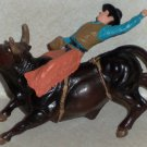 Bigtime Rodeo Bull Rider Plastic Toy Animal Loose Used