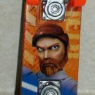 Mcdonald's 2010 Star Wars Clone Wars Obi-wan Kenobi Mini Skateboard  Happy Meal Toy Loose Used