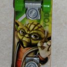 Mcdonald&#39;s 2010 Star Wars Clone Wars Yoda Mini Skateboard  Happy Meal Toy Loose Used