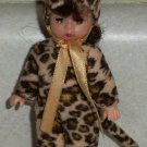 McDonald's 2003 Madame Alexander Halloween Leopard Costume Doll Happy Meal Toy Loose Used