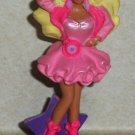 McDonald's 1991 Lights and Lace Barbie Doll Happy Meal Toy Loose Used