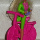 McDonald's 1994 Bicycling Barbie Doll Happy Meal Toy Loose Used